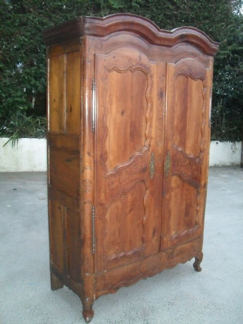 double domed cornice 18th century fruitwood armoire