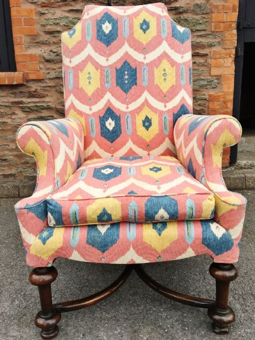 wing back armchair c1880