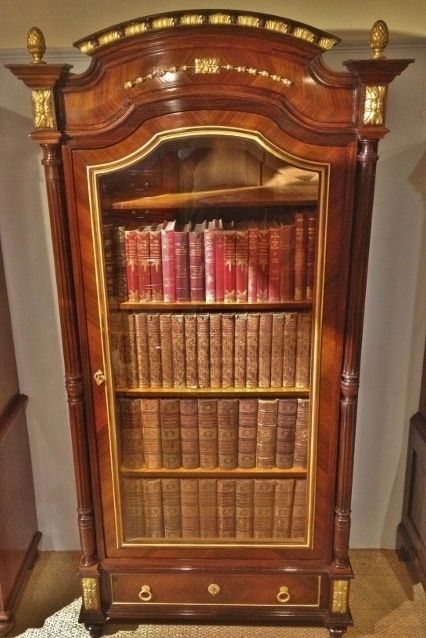 bookcase french rosewood c 1880