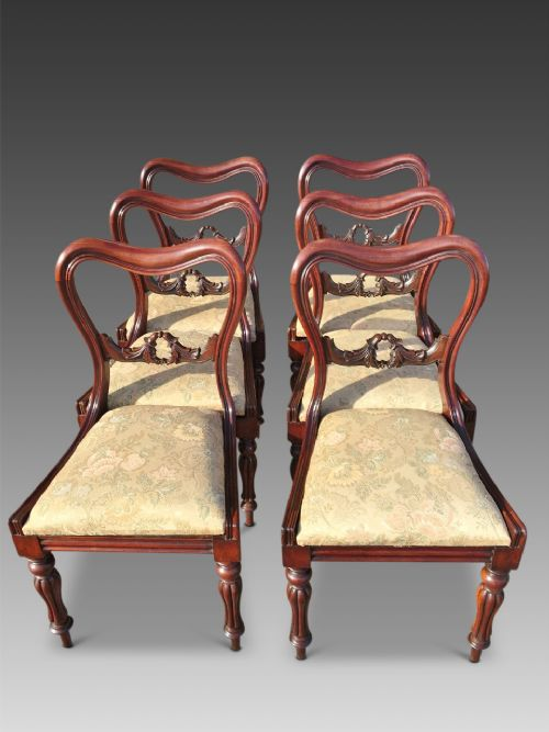 dining chairs set of 6 c 1840