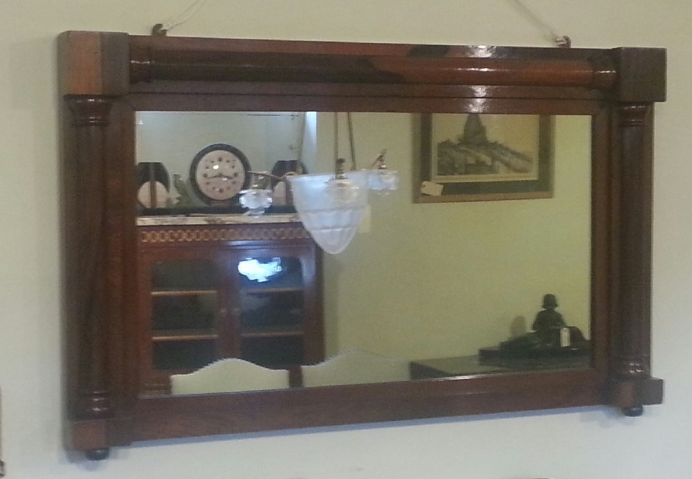 rosewood overmantle mirror