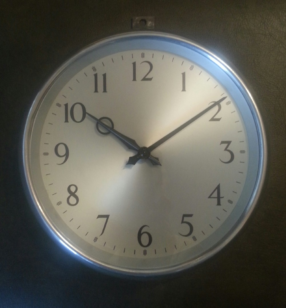 military industrial wall clock