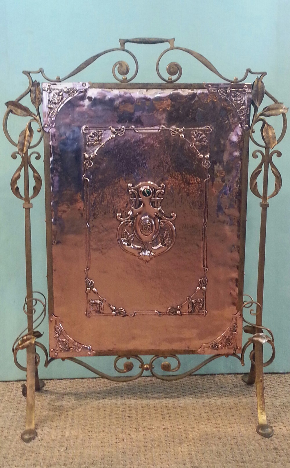 arts and crafts fire screen