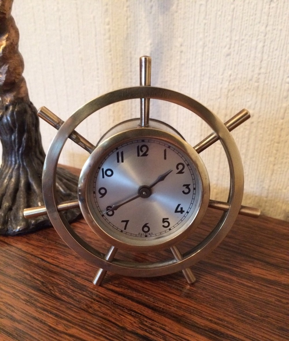 maritime themed mantel clock