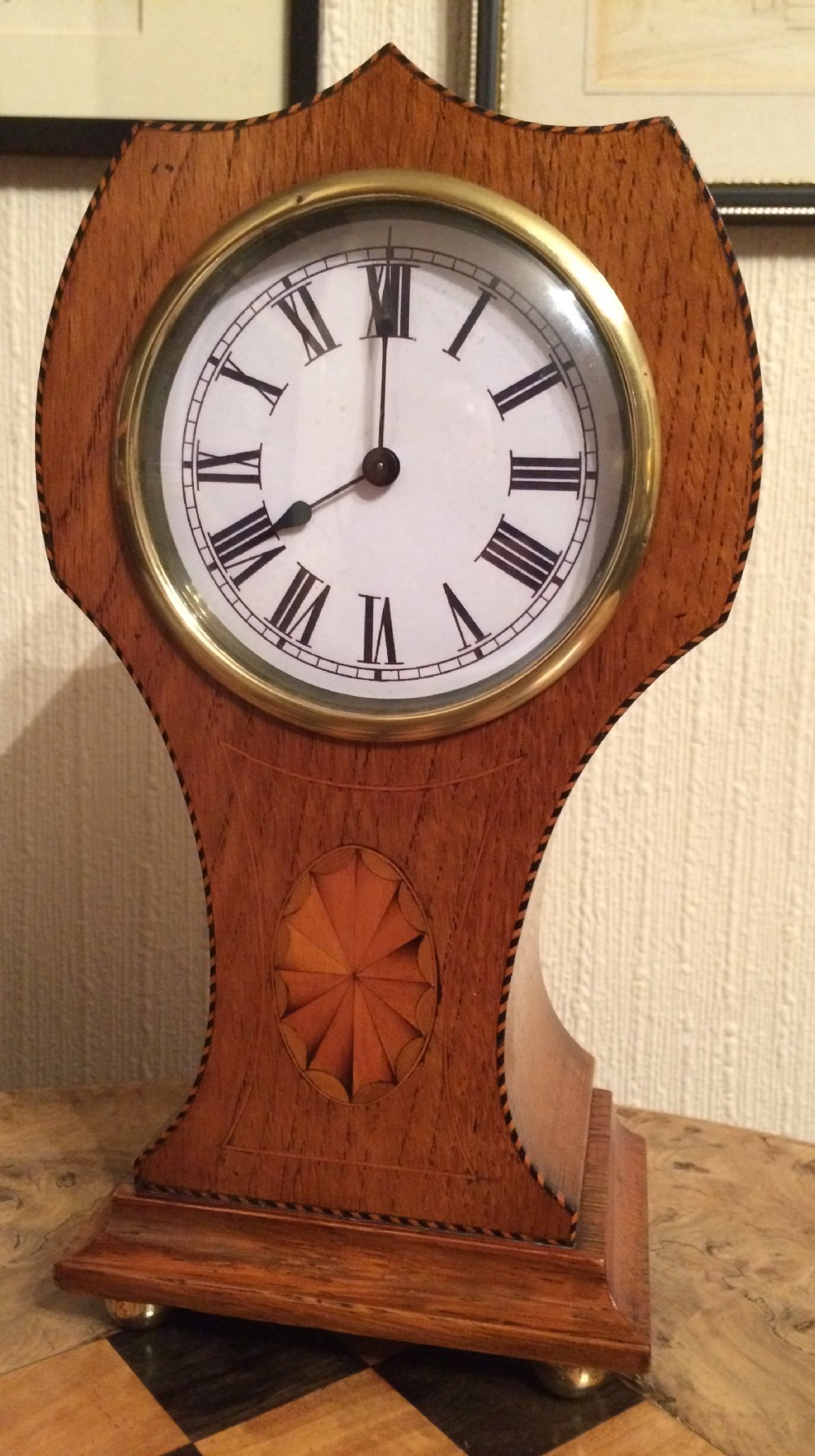 edwardian art nouveau mantel clock
