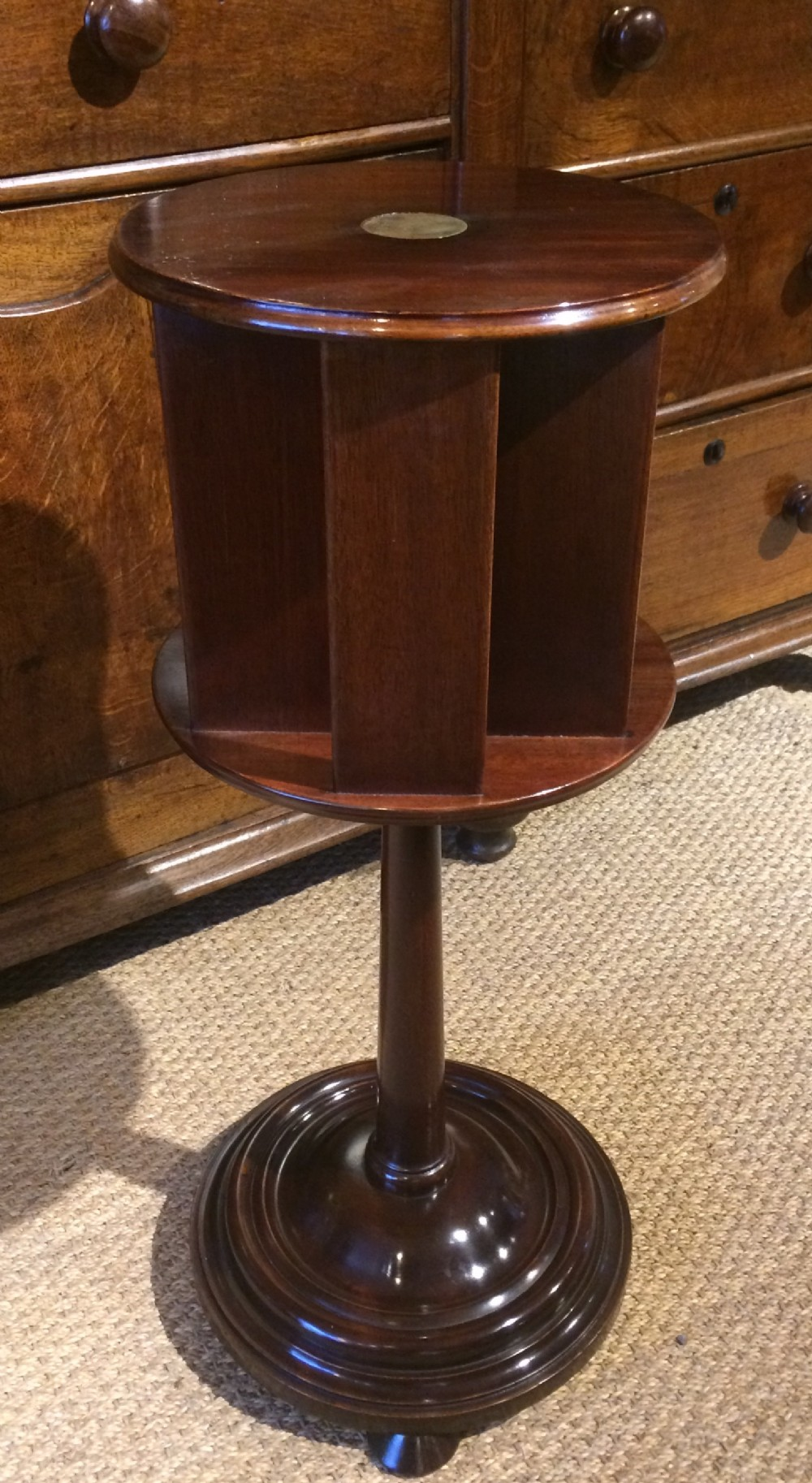 art deco revolving newspaper or lamp table