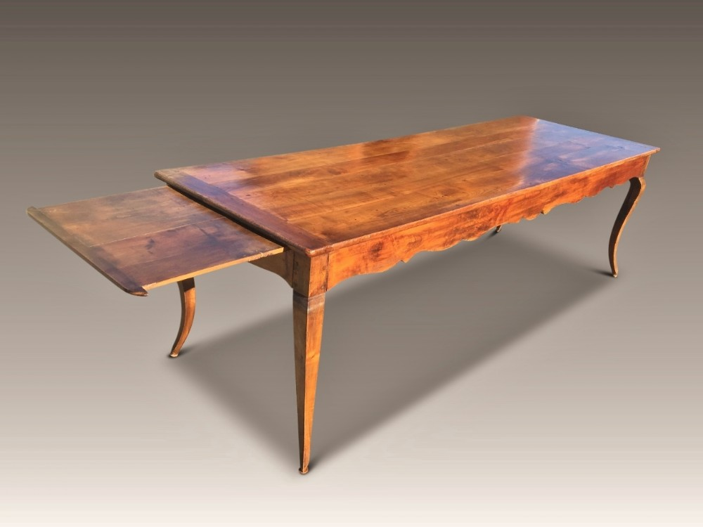 cherry wood farmhouse table french c 1860