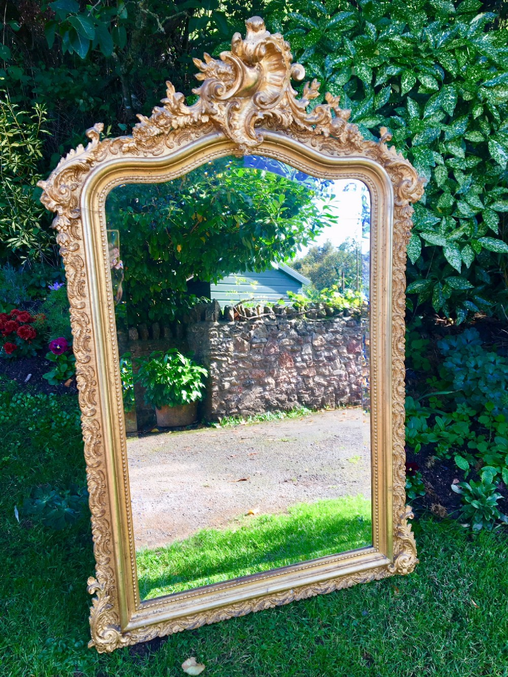 gilt mirror overmantle french c 1900