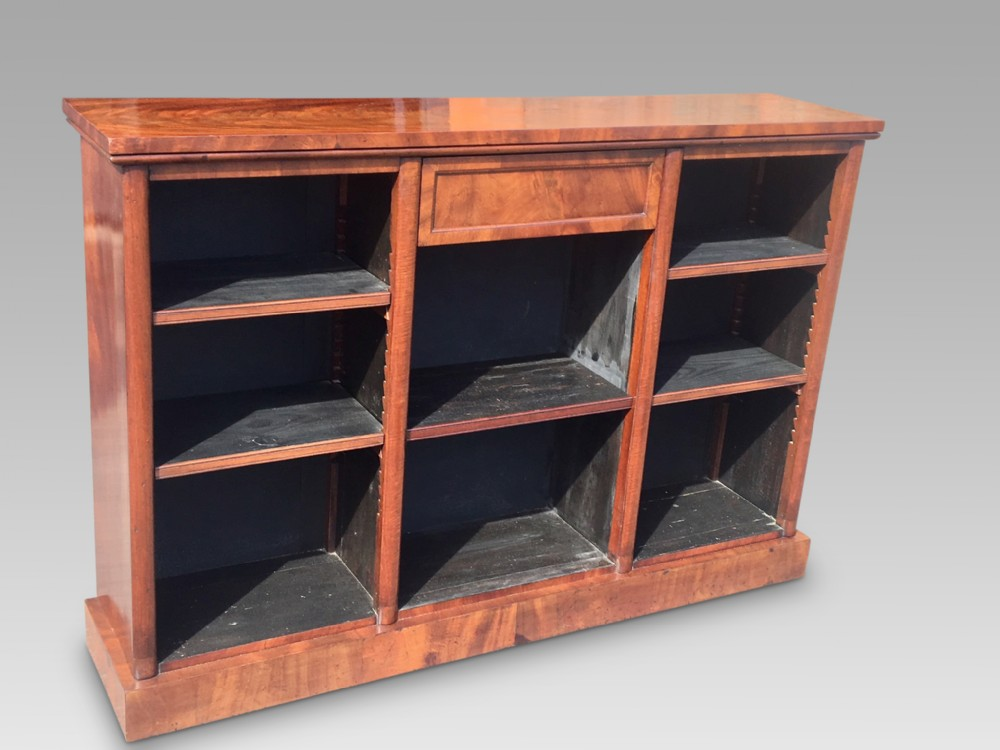 antique mahogany bookcase c 1850