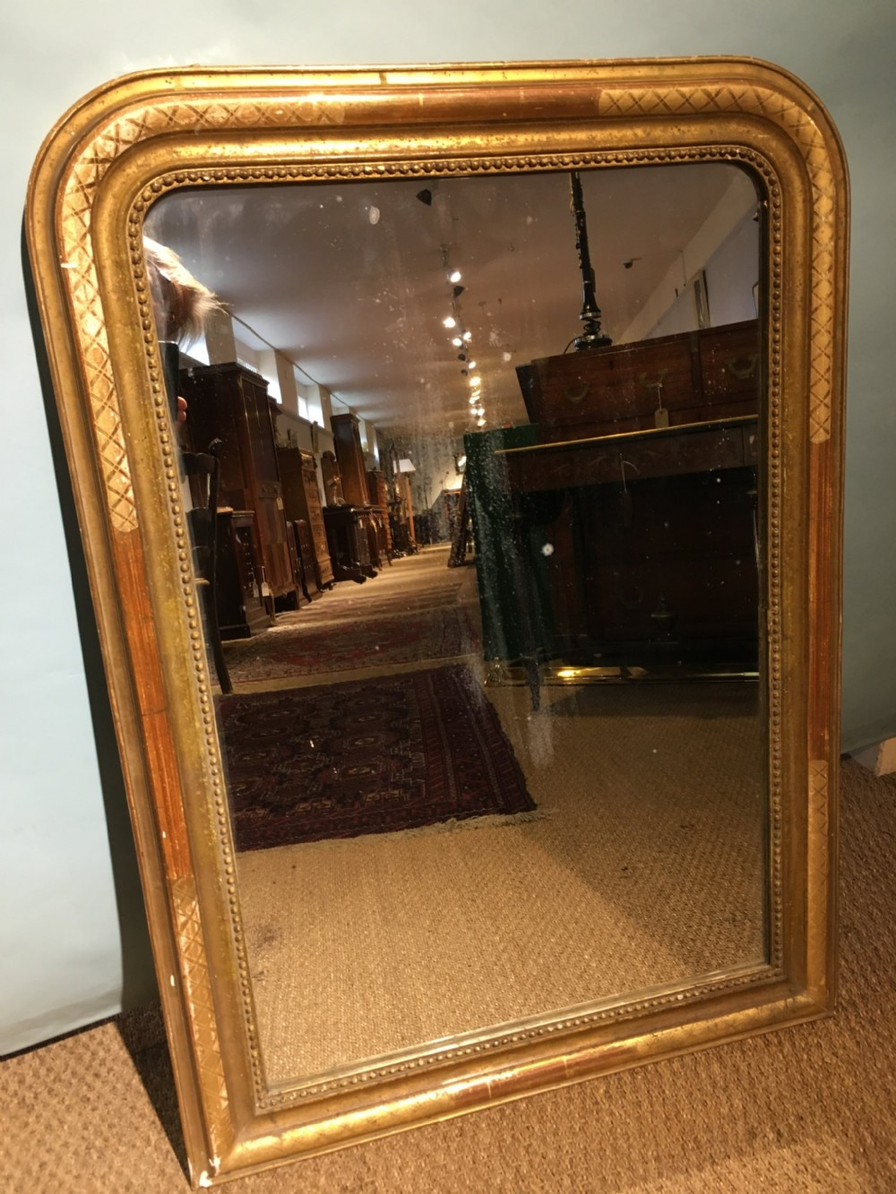 antique gilt mirror 38 x 27 inches