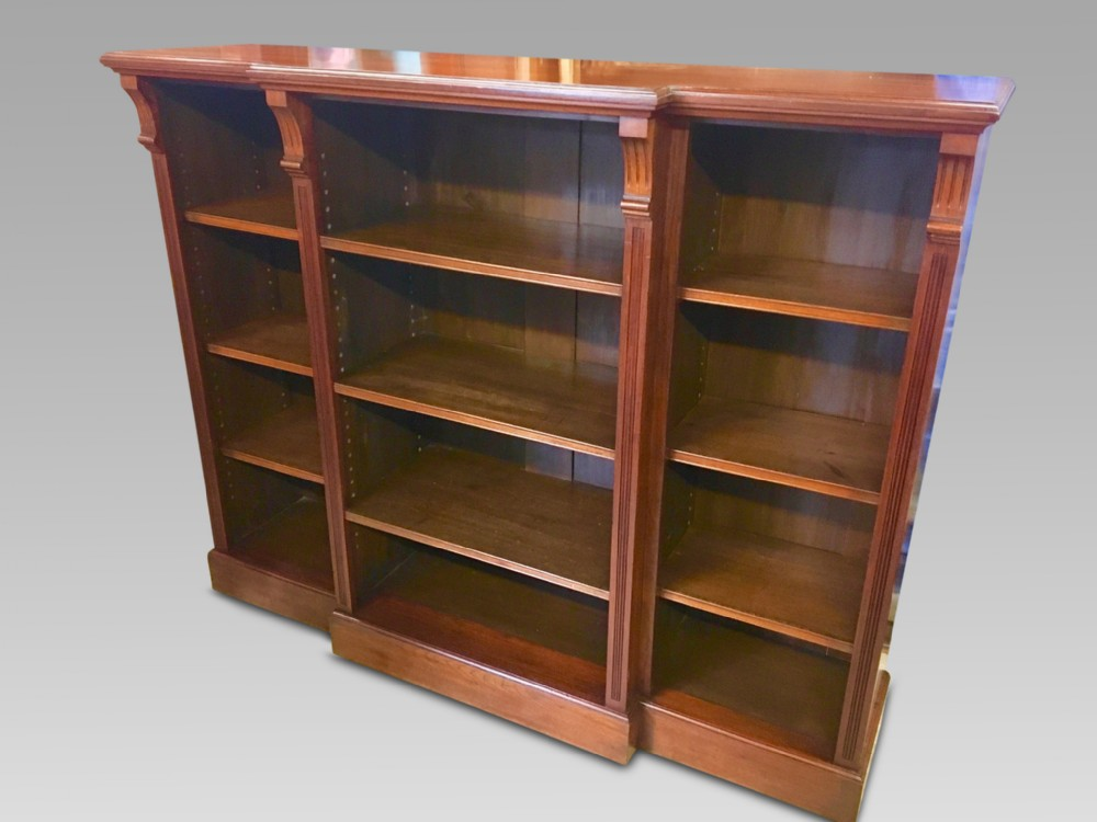 open bookcase c 1910 english walnut