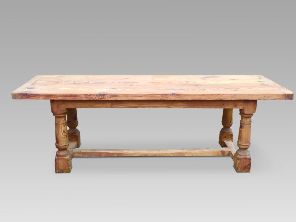 farmhouse table refectory table 8 ft english c 1890