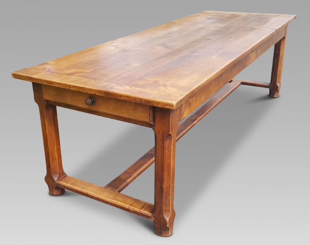 farmhouse table cherry wood c 1870 99 ins long