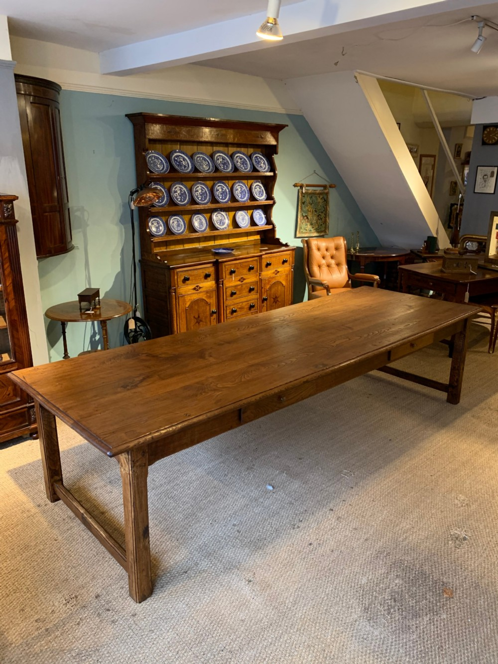 farm table elm long wide 310 cms