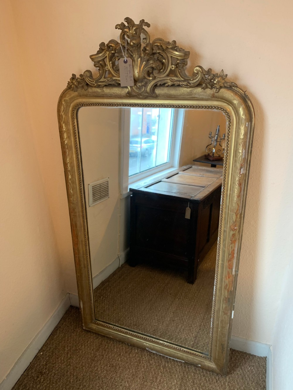 antique gilt mirror 63x33 inches