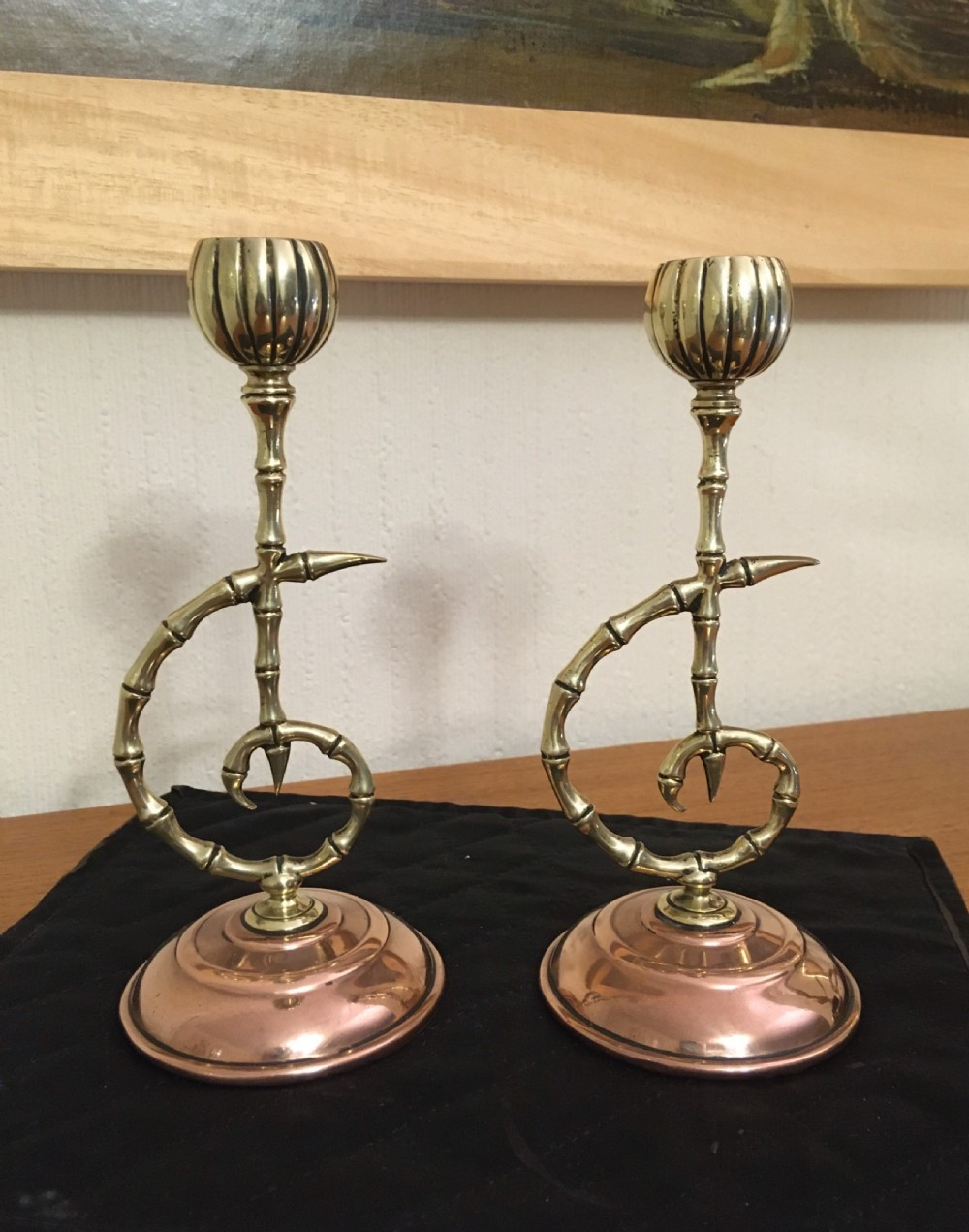 aesthetic movement townsend co candlesticks
